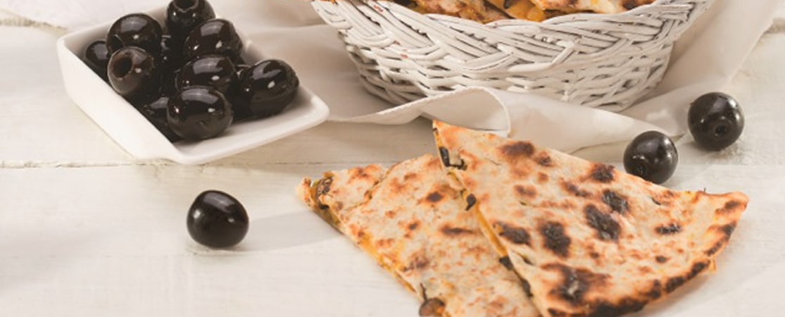 Naan aux olives et curry