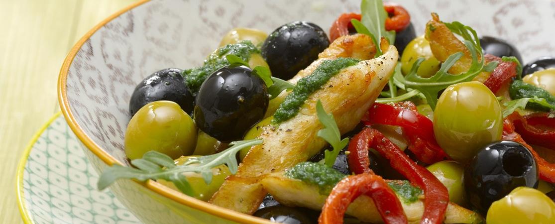 Olives aux piquillos et poulet