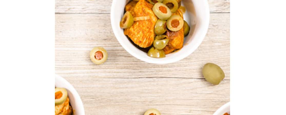 Petites bouchées de poulet aux olives