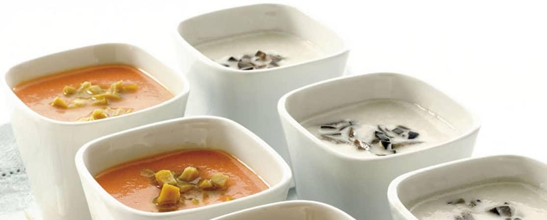 Gaspacho blanc à l'ail et aux olives