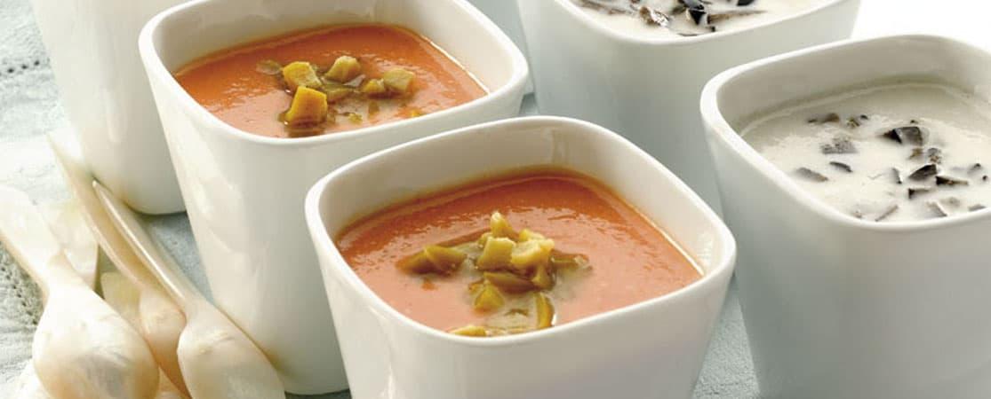Gaspacho à la tomate d'Andorre aux olives