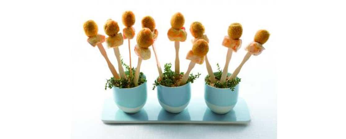 Mini brochettes de poulet aux olives