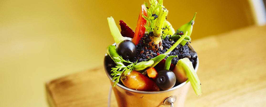 « Terre » d'olives d'Espagne et son confit de légumes